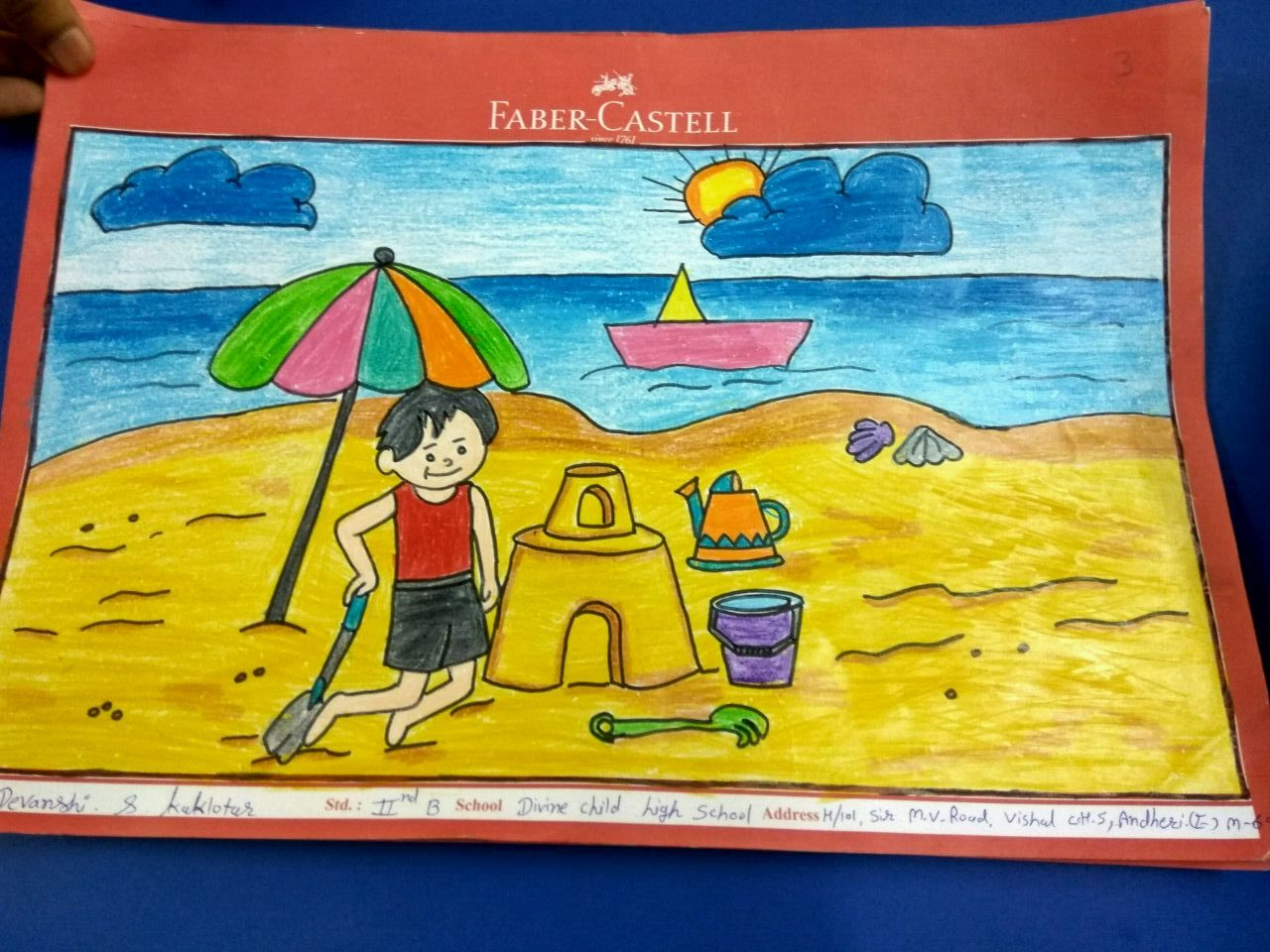 Faber Castell Calendar Art Competition : Faber castell drawing competition divine child senior